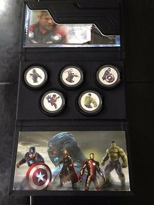 Niue 2015 - 5 x 1 oz Silver Coin - MARVEL AVENGERS: AGE OF ULTRON (Thor Costume)