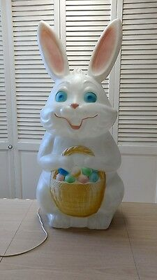 """Easter Bunny Blow Mold-LARGE-App.34"""" Ht. W/Cord"""