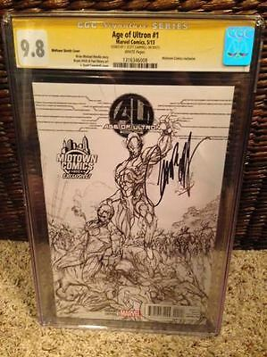 Age of Ultron #1 CGC 9.8 Signed by J. Scott Campbell - Midtown Sketch Cover