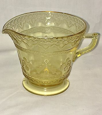 "Federal PATRICIAN AMBER * 3 1/2"" FOOTED CREAMER*"