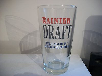 Rare- Rainier Draft-Ice Lagered & Cold Filtered- Beer Glass