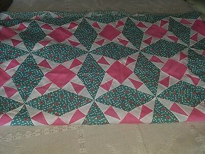 Antique hand stitched quilt tops 70x83 1900s