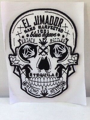 el Jimador Tequila Skull Calavera Stick-on / Sew On Patch Embroidered BRAND NEW