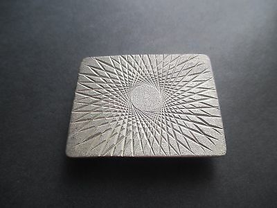 Belt Buckle..STERLING SILVER..Diamond Cut .Unique..Solid..New..Taxco