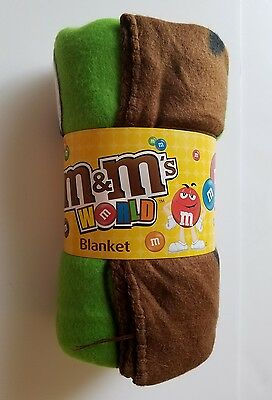 """M&M's Polyester Fleece Blanket,  Officially Licensed, 50"""" x 60"""", New In Package"""