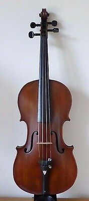 "OFFER - ANTIQUE VIOLIN 4/4 -  LOB 14 1/4""  -  OLD HARD CASE - cello viola"