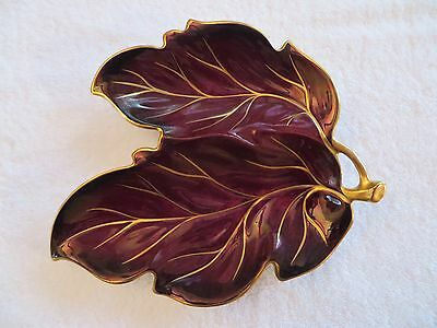 Vintage Carltonware Rouge Royale Leaf-Shaped Dish