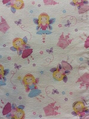 Flannelette Sheet Set: cot, toddler bed, portacot 'Butterfly Fairy Princess'