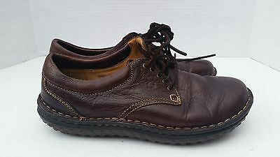 Born Mens Sz 9.5 Lace Up 2 Eye Sport Casual Shoe Leather Dark Brown