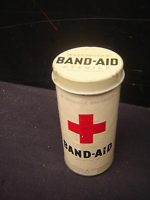 Vintage Medical Doctor Band Aid Red Cross First Aid Tin Johnson and Johnson
