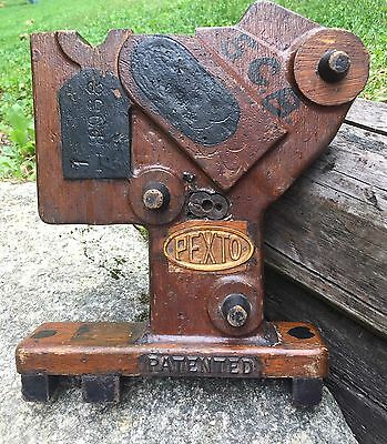 Vintage Pexto Woodworking Tool Prototype Patented Made In USA Display