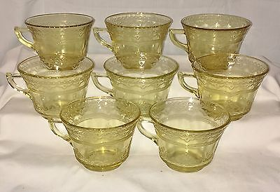 8 Federal PATRICIAN AMBER *CUPS*