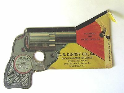 Pat 1914 Advertising Toy Noisemaker Cardboard Revolver Kinney Shoe Springfield I