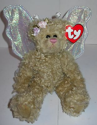 """Ty Attic Treasures """"rafaella Jointed Angel Bear"""" 1993, Vintage With Tags!"""