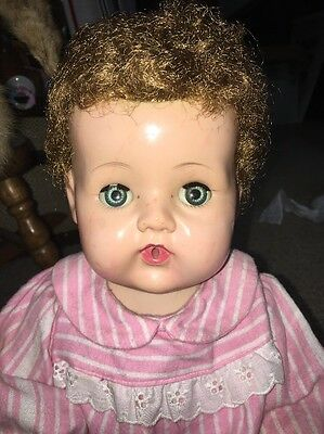 """Vintage American Character Tiny Tears 19""""-20"""" Rock-A-Bye Eyes"""