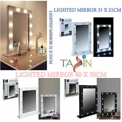Dressing Room Lighted Mirror Led Bulb Light Up Makeup Table Hollywood Mirror
