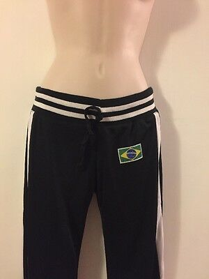Capoeira Black Pants Tribo Quilombo Brazilian Flag Size Small
