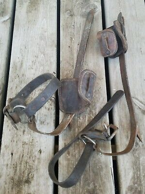 Vintage Climbing Spikes Buckingham Mfg 16F Right and Left / Binghamton NY