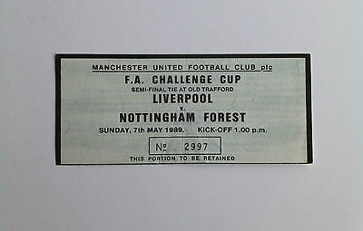 LIVERPOOL v NOTTINGHAM FOREST  1989 F A CUP SEMI-FINAL RE MATCH TICKET STUB