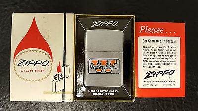 Vintage 1965 Zippo Lighter Unfired In Original Box With Paperwork West Chemical