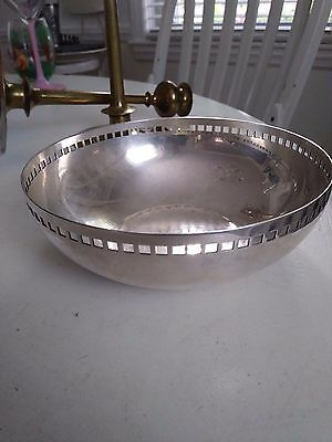 Secessionist Silver Plated Bowl Signed Swid Powell And Initialled RM