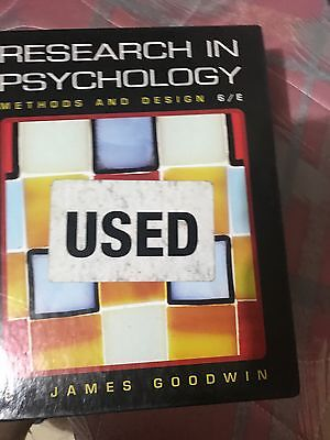Research in Psychology: Methods and Design (6th Edition) by James Goodwin