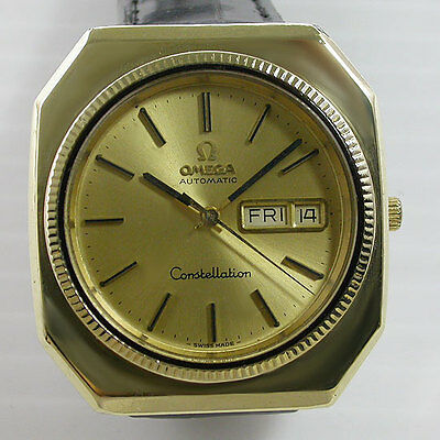 Vintage Omega Constellation 1020 17 Jew 18K Gold Automatic Watch For Men