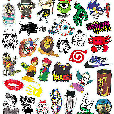 HA 50-500PCS Sticker Bomb Decal Vinyl Roll Car Skate Skateboard Laptop Luggage