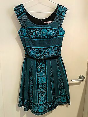 Review teal and black Dress size 8