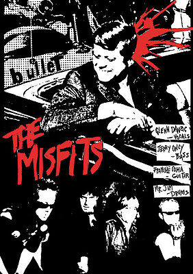 "Misfits Bullet Poster 23.5"" x 33"" British Import Danzig JFK Kennedy"