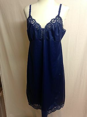 Recycled vintage full slip in blue size 18