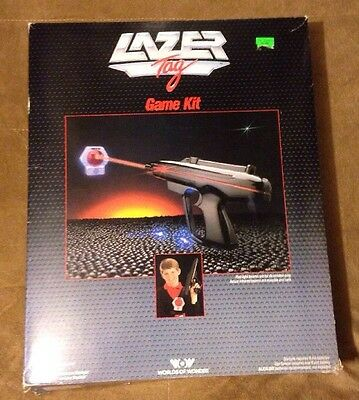 Vintage World Of Wonder Lazer Tag Game Kit 1986 With Box Works Good! Awesome 80s