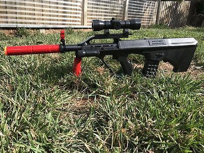 Australian Army Steyr Prop Toy Costume Assault Rifle W/Removable Scope Torch