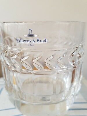 'Villeroy and Boch' crystal whiskey glass
