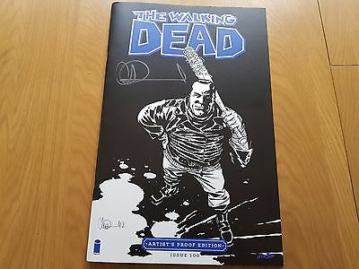 The Walking Dead #100 Artists Edition signed by Charlie Adlard