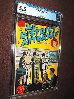 MR. DISTRICT ATTORNEY LAW vs. CRIME # 4 1948 OFF WHITE TO WHITE PAGES CGC 5.5