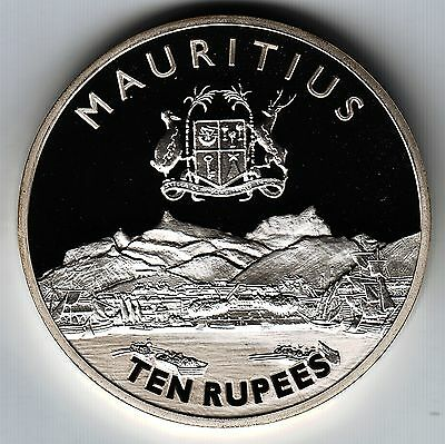 MAURITIUS 10 R 2000 KM62 Ag.925 Chamber of Commerce PROOF minted 1,000 VERY RARE
