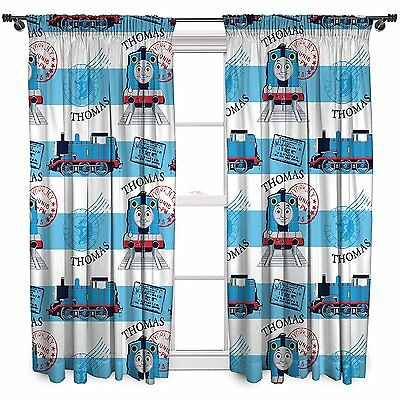 Thomas The Train Curtains 2 Panel Pair Blue Red Boys Bedroom Kids Room Decor
