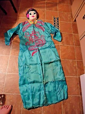 #172 Vintage 1960's Collegeville Dragon Lady Halloween Costume W/orig Box