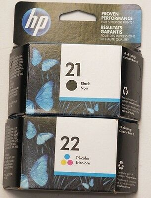Genuine HP 21 / 22 Black / Tri-Color ink cartridges 2015