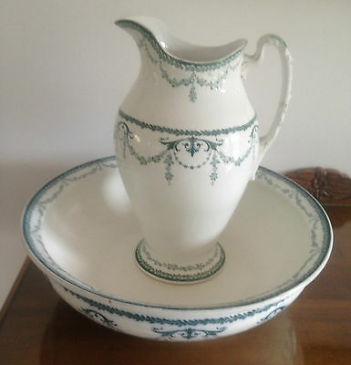 "Antique  John Maddock & Sons Ltd England  "" Imperial ""  Pitcher & Bowl."