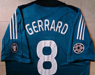 Adidas Liverpool 08/09 Player Issue Champions League Third Jersey - Gerrard 8