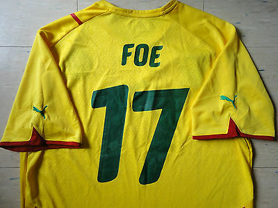 Authentic Puma Cameroon 10/11 Away Jersey - Foe 17. Great Used Cond, Mens XXL