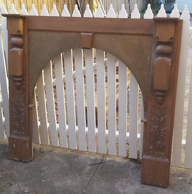 Antique Mantle Piece Fireplace Surround - in need of repair