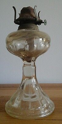 Oil Lamp Base 280mm High Glass