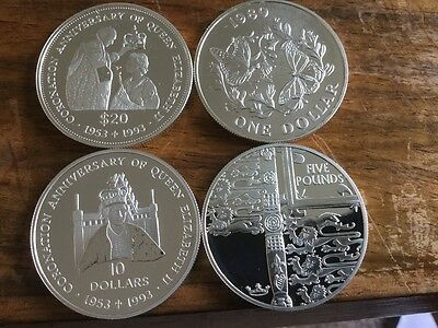 24 Solid Silver  Commemorative Coins 689  Grams Scrap Or Resell