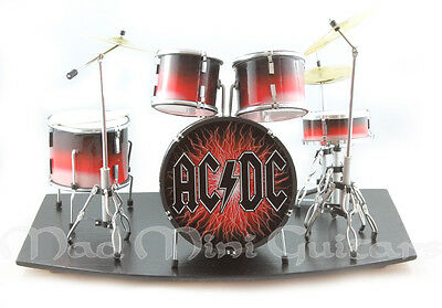 Miniature Drum Kit Set ACDC with stage AC/DC