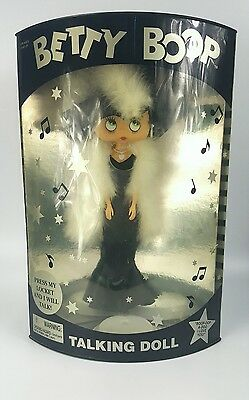 "1998 NIB  Betty Boop Talking Doll 13"" Bendable Movable Posable COLLECTIBLE RARE"