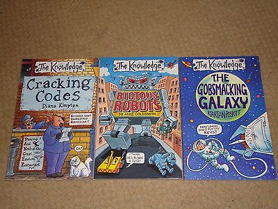 The Knowledge; set of 3 books Galaxy, Robots and Codes