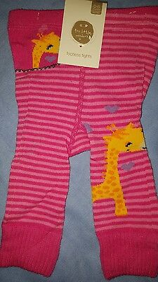 ** BEST WISHES baby girl footless tights size 0/6 months - new **